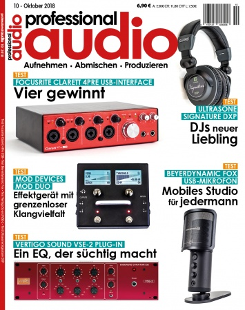 Professional audio 10/2018